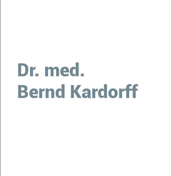 Dr. med. Bernd Kardorff